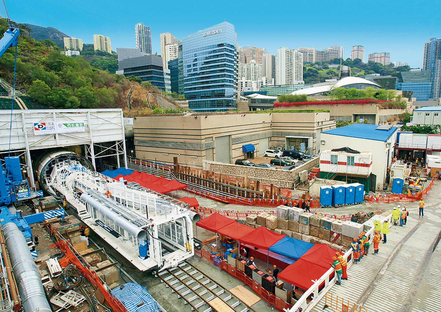 Double Shield TBM for an urban sewage tunnel for the Mega Metropolis Hongkong, Ø 8,280 mm