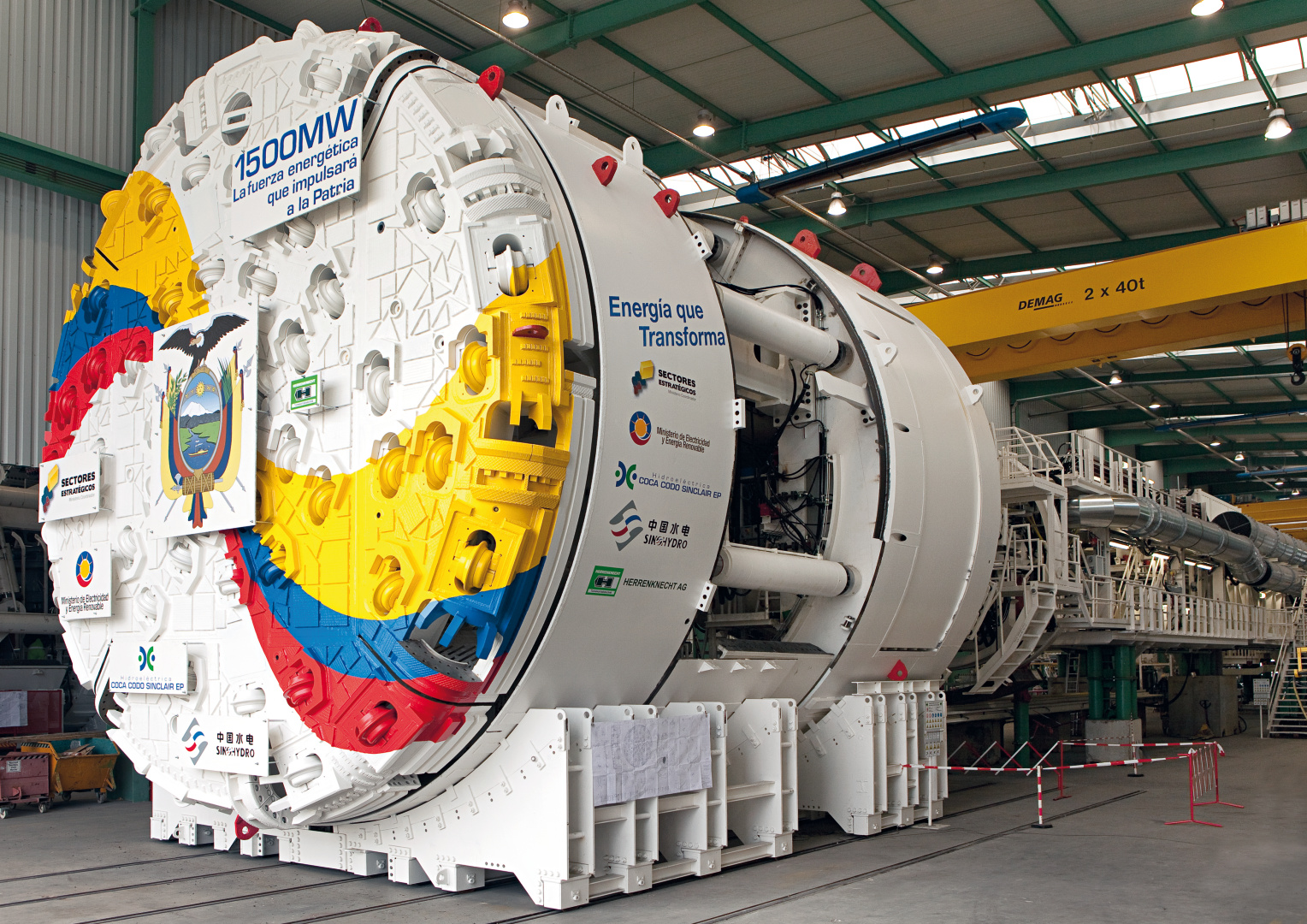 Double Shield TBM for the Coca Codo Sinclair Hydropower Project in San Miguel, Ecuador, Ø 9,040mm