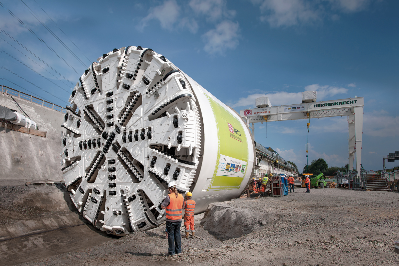 Multi-mode TBM shortly before tunnel advance starts at the Filder Tunnel, Germany, Ø 10,830 mm