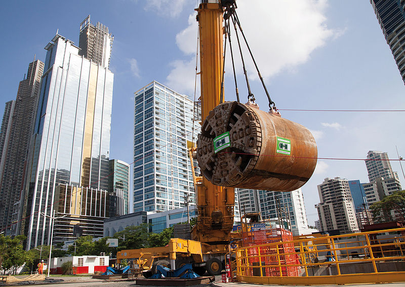 Utility tunnelling machine for the urban construction of sewage tunnels in Panama City, Panama, EPB3000AH, Ø 3,670 mm