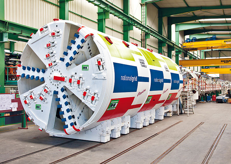 EPB machine for an protective power tunnel at the National Grid Project in London, Great Britain, EPB4000AH, Ø 4,700 mm