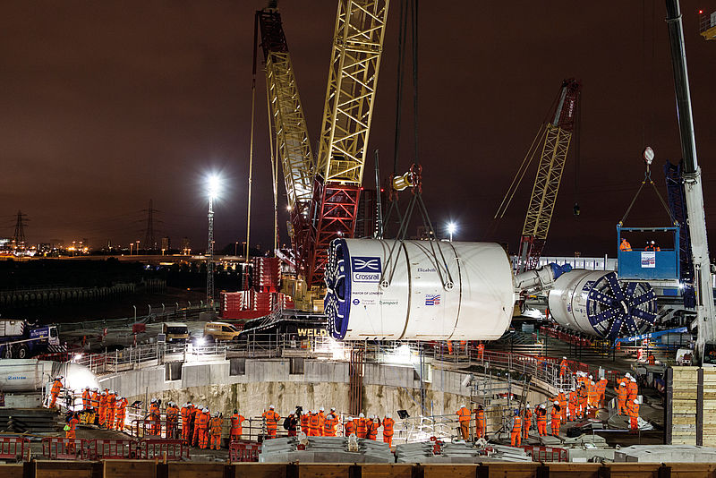 Launch shaft for the Crossrail project in London, Great Britain, EPB Shield, Ø 7,080mm