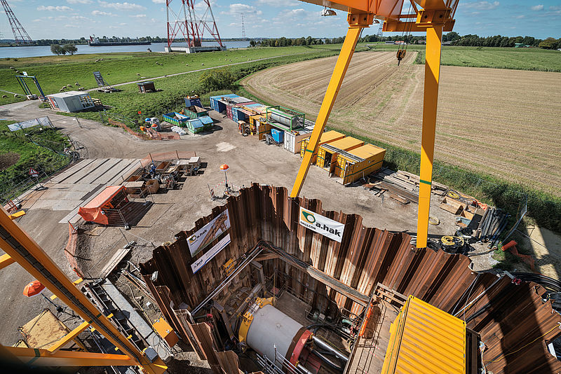 Launch shaft for an AVN machine crossing the River Elbe in Hetlingen, Germany, Ø 3,025 mm